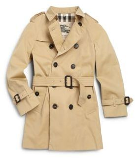 Burberry Little Boy's Mini Wiltshire Trench Coat $850 thestylecure.com