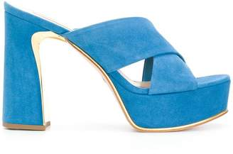 Sebastian cross strap platform sandals