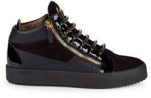 Giuseppe Zanotti Double-Zip Patent & Leather Sneakers