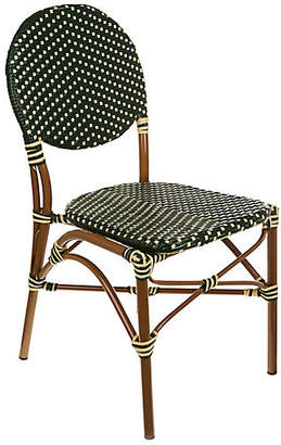 Tiab Inc. Café Outdoor Bistro Side Chair - Green/Cream