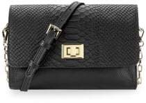 GiGi New York Catherine Snake-Embossed Leather Crossbody
