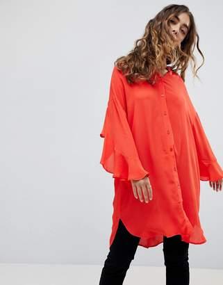 Vero Moda Fluted Sleeve Shirt