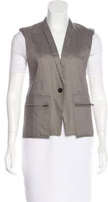 Helmut Lang Linen-Blend Lightweight Vest