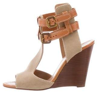 Chloé T-Strap Wedge Sandals