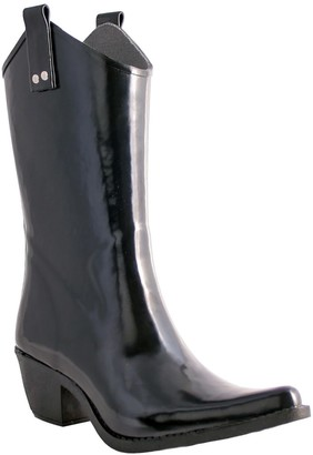 NOMAD Pull-On Shiny Cowboy Rubber Rain Boots -Yippy