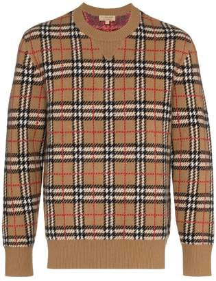 Burberry House Check crewneck sweater