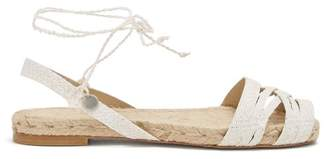 Ball Pagès Ball Pages - Doble Cross Hemp Slingback Espadrilles - Womens - White
