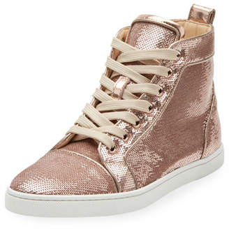 Christian Louboutin Bip Bip Sequined High-Top Sneaker