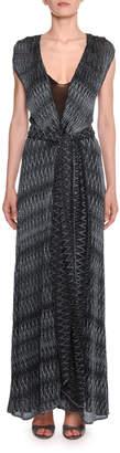 Missoni Zigzag Maxi Wrap Dress