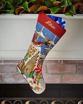 Sferra Christmas Goodies Needlepoint Stocking