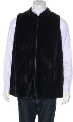 Dennis Basso Faux Fur Vest