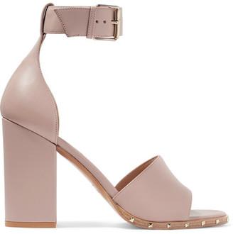 Valentino - Rockstud Leather Sandals - Blush $945 thestylecure.com
