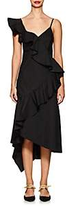 Teija Women's Ruffled Cotton Midi-Dress - Black