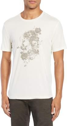 John Varvatos Floral Skull Graphic T-Shirt