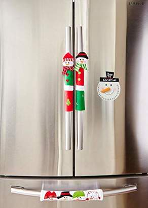 IDEA iEnjoyware Snowman Kitchen Appliance Handle Covers & Snowman Countdown Calendar - Christmas Decoration