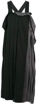 Yohji Yamamoto loose frilled midi dress