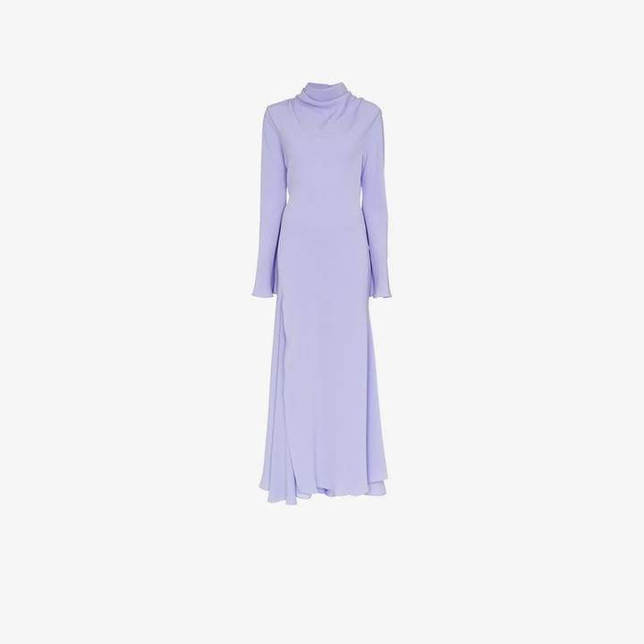 Georgian high neck slit detail dress