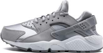 Nike Womens Air Huarache Run Prm Suede Medium Grey/Off