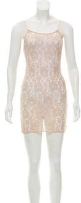 Alice + Olivia Sheer Lace Dress