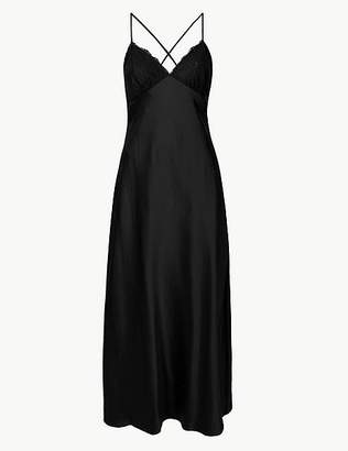 Marks and Spencer Satin Strappy Long Nightdress