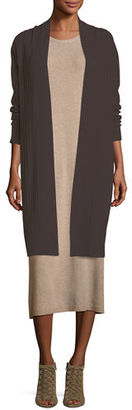 Eileen Fisher Fisher Project Cozy Ribbed Elongated Cardigan $448 thestylecure.com
