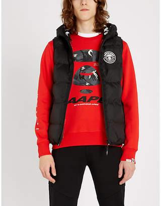 Aape Logo-print cotton-blend sweatshirt