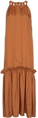 Tibi Tiered ruffled midi-dress