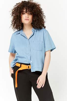 Forever 21 Plus Size Chambray High-Low Shirt