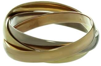 Cartier Trinity 18K Tri-Gold Bangle Large Model Bracelet Size 6.75""