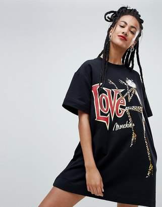 Love Moschino Catz Print Sweat Dress