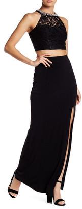 Speechless Lace Blouse & Maxi Skirt 2-Piece Set (Juniors) $109 thestylecure.com