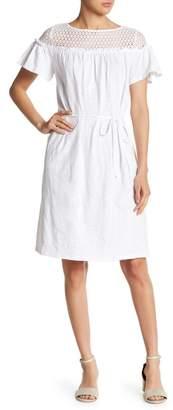 Joe Fresh Lace Yoke Flutter Sleeve Dress