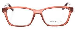 Salvatore Ferragamo Logo Acetate Eyeglasses