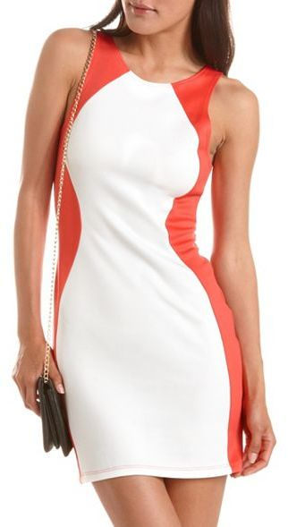 Charlotte Russe Scuba Racerback Body-Con Dress
