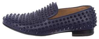 Christian Louboutin Rollerboy Spike Flats Smoking Slippers