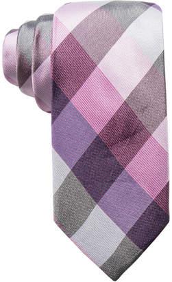 Ryan Seacrest Distinction Men Weho Check Slim Silk Tie