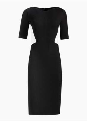 St. John Pique Milano Knit Elbow Sleeve Dress