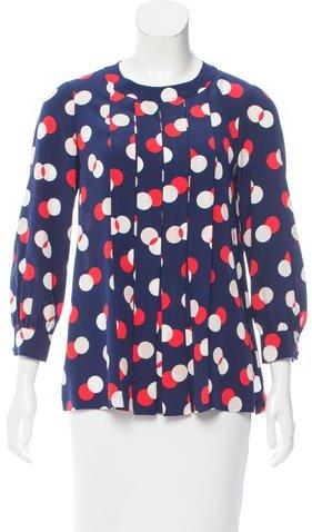 Kate Spade New York Printed Silk Blouse