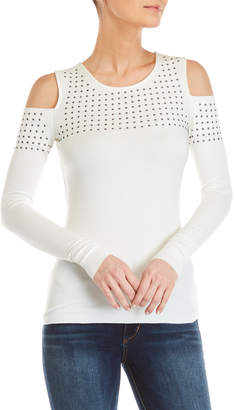 Bailey 44 Still the One Studded Cold Shoulder Top