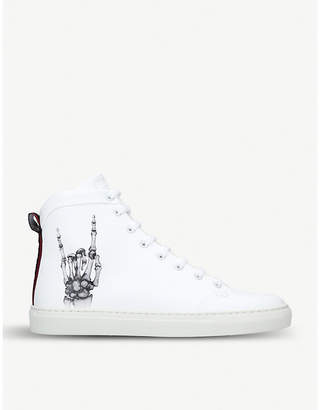 Bally Hercules x Funk leather high-top trainers
