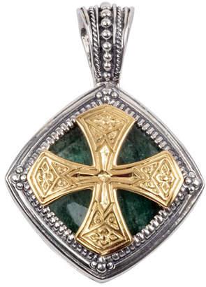 Konstantino mens necklace shopstyle konstantino mens sterling silver 18k gold pendant with aventurine aloadofball Gallery