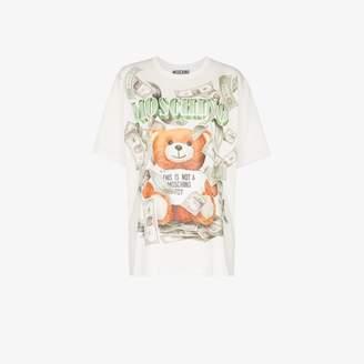 Moschino Teddy Bear Money Print T-shirt