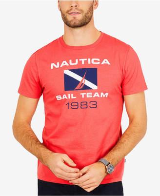 Nautica Men's Big & Tall Graphic-Print Logo Cotton T-Shirt
