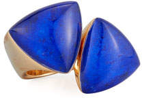 Lapis Vhernier Freccia 18K Rose Gold & Ring, Size 6.5