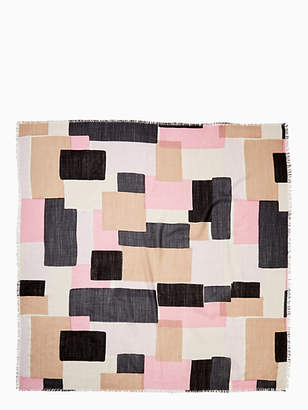 Kate Spade Empire geo wool scarf