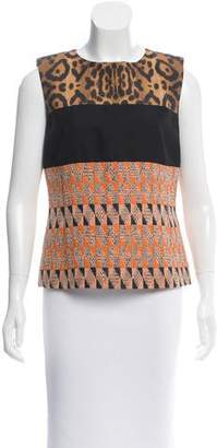 Giambattista Valli Printed Sleeveless Top