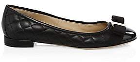 Salvatore Ferragamo Women's Varinaq Leather Ballet Flats