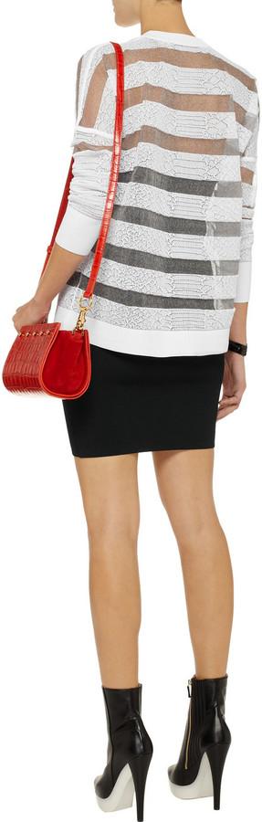 Alexander Wang Compact jersey mini skirt