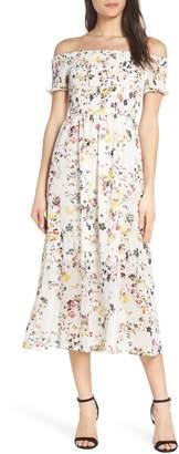Sam Edelman Floral Off the Shoulder Midi Dress