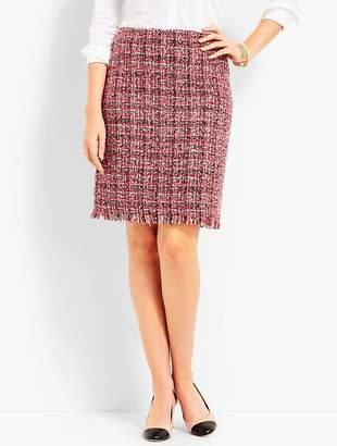 Talbots Tweed Fringe-Hem A-Line Skirt